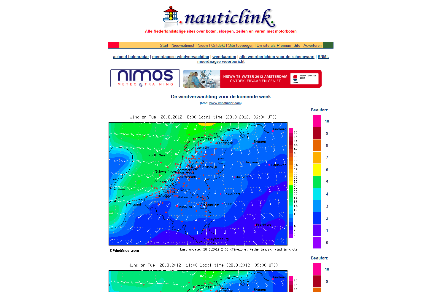 Nauticlink Windvoorspellingen